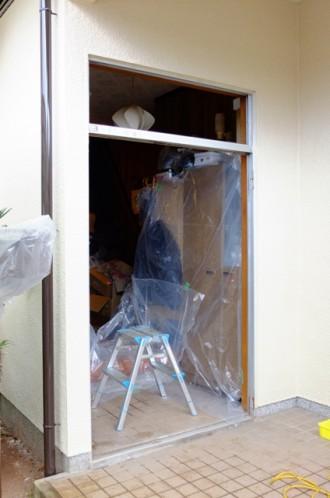 玄関ドア 1日リフォームの工事の流れ2